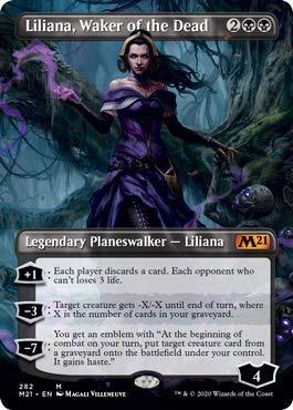 Magic: The Gathering - Liliana, Waker of The Dead - Borderless - Core Set 2021