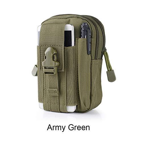 De múltiples fines Bolsas de caza de Molle bolsa de bolsa táctica Bolsa de cintura Bolsa de cintura Paquete militar Paquete de bolsillo para teléfono para escalada al aire libre ( Color : Army green )