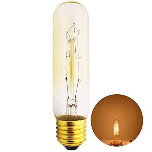 Xindaxin®,Edison Glühbirne E27 Fassung, Antike Filament Beleuchtung im Retro Vintage Look,Warmweiß 40W,Dimmbar Edison Retro Glühbirne-1 Stück