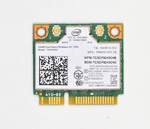 Network Card 7260HMW,Dual Band Wireless-AC 7260 Network Adapter PCI Express Half Mini Card 802.11 b/a/g/n/ac (TA:H 867Mbps)