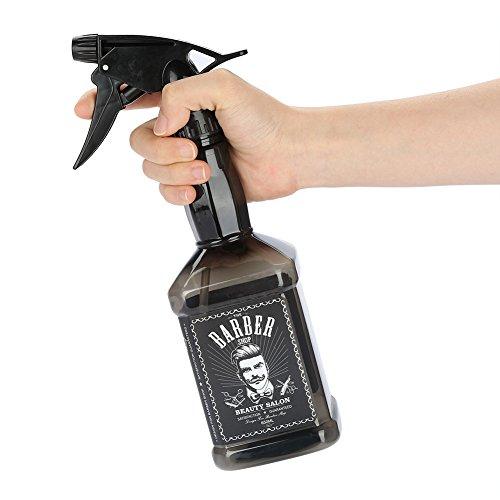 Bouteille Vide de Brume Fine de 650 ML, Bouteille en Plastique d'eau Rechargeable d'outil portatif de Cheveux de barbier de Salon, Bouteille en Plastique d'arrosage de gâchette (Noir)