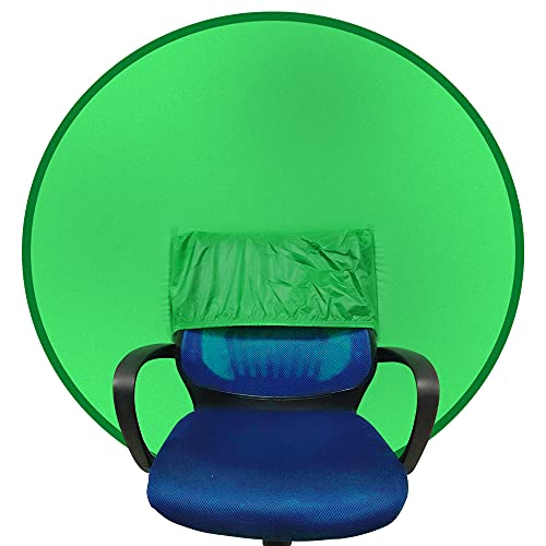 """Portable Webcam Background Chair Green Background Screen Zoom 56""""/142cm for Photo Video Studio,Collapsible Background,Single-Side Chromakey Green Screen Chair"""