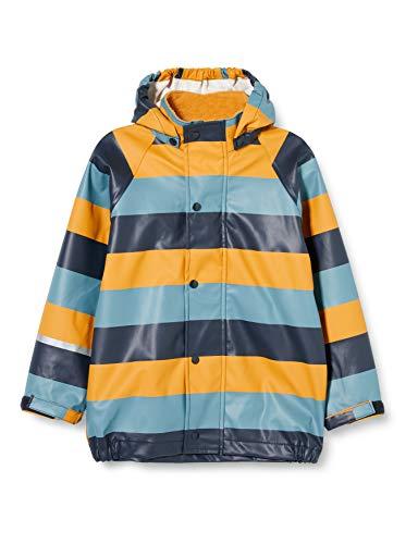 CareTec Kinder wasserdichte Regenjacke,Gelb (Gelb mit Streifen), 86 (18 Monate)*