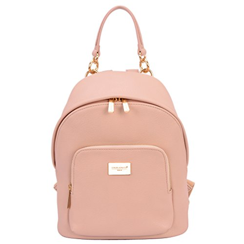 David Jones - Damen Kleine Rucksack Backpack - Frauen Weiches PU Leder Daypack - Casual...