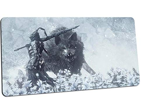 Gaming Mouse pad Dark Souls 3 Print Mouse Pad Mouse Pads Notebook Computer Mousepad Gaming Padmouse Gamer Keyboard Mouse Mat C(40×90Cm)
