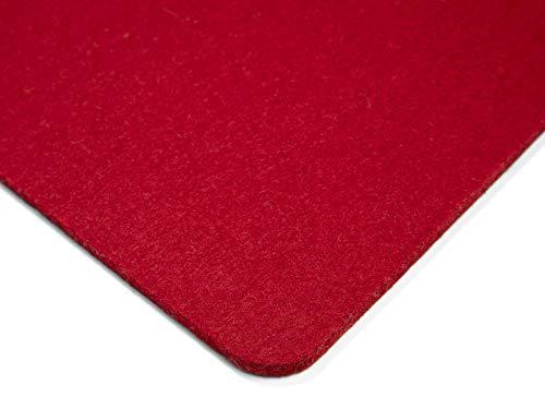 Modulor Filz-Sitzauflage für Stühle, quadratisches Sitzkissen aus 100% Wollfilz mit runden Ecken, auch als dekoratives Tischset geeignet, 33 cm x 33 cm (Rot)