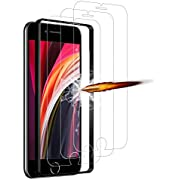ANKENGS iPhone SE 2020 Screen Protector [3 Pack], iPhone SE 2020 Glass Screen Protector, [Full Coverage] [Anti-scratch] [Bubble Free] Tempered Glass for iPhone SE 2020(4.7 inch)