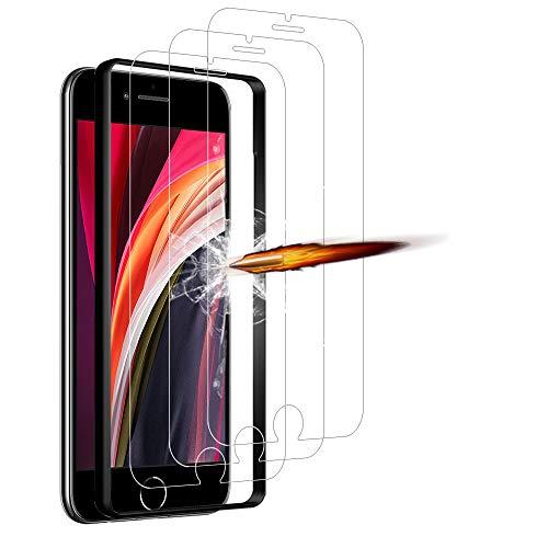 ANKENGS Kompatibel mit iPhone SE 2020 Panzerglas [3er Pack], iPhone SE 2020 Schutzfolie Panzerglas, [Kratzfest] [Anti-Schaum] iPhone SE 2020 Displayschutzfolie