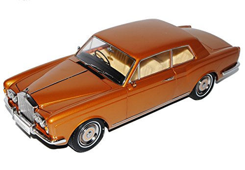 Paragon Rolls Royce Silver Shadow MPW 2 Türer Coupe Rechtslenker Braun Gold 1/18 Modell Auto