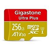 【5年保証 】Gigastone Micro SD Card 256GB マイクロSDカード A1 V30 Ultra HD 4K ビデオ録画 高速4Kゲーム Nintendo Switch 動作確認済 100MB/s マイクロ SDXC UHS-I U3 C10 Class 10 micro sd カード SD変換アダプタ付