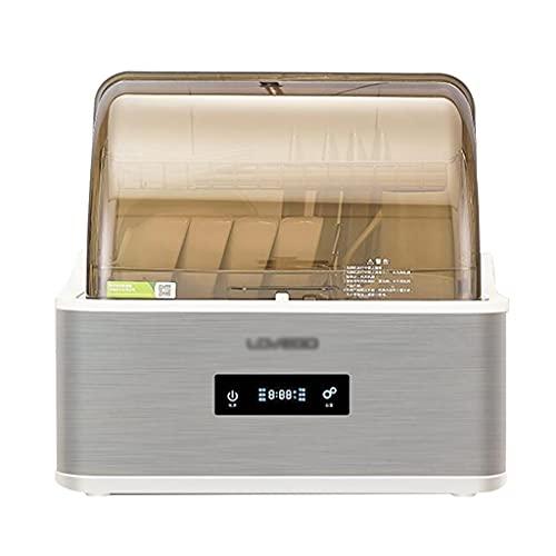 Zheng Hui Shop Mini Lavavajillas De Sobremesa Lavavajillas Compacto Totalmente Automático, 6 Programas De Lavado, Capacidad 4 Juegos De Vajilla (Color : Silver, Size : 43 * 43 * 43cm)