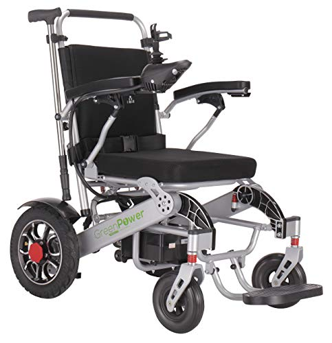 Green Power Mobility Super Lightweight Lithium Battery Electric Wheelchair Folding Indoor/Outdoor Portable Power Chair