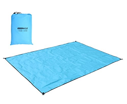WoneNice Camping Tarp, Waterproof Picnic Mat, Tent Footprint with Carrying Bag for Hike Cam and Adventure,118 x 118 inches