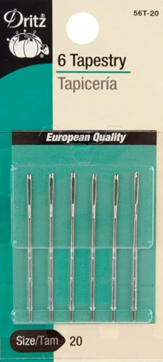 Dritz 56T-20 Tapestry Hand Needles, Size 20 (6-Count)