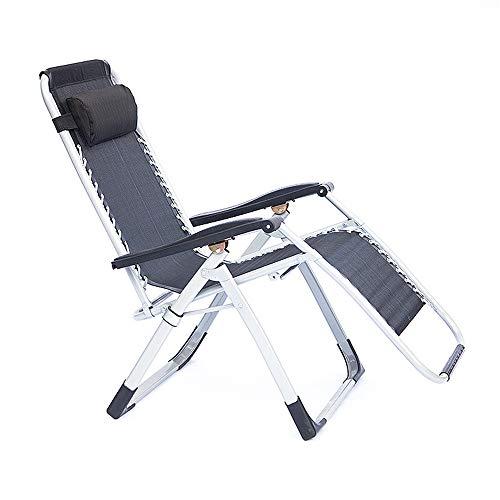 Gyubay Sedia Sdraio Reclining Lounge Chair Sedia Pieghevole Esterna Paddock Beach Camping con poggiatesta per Giardino e Campeggio Esterno (Colore, Size : One Size)