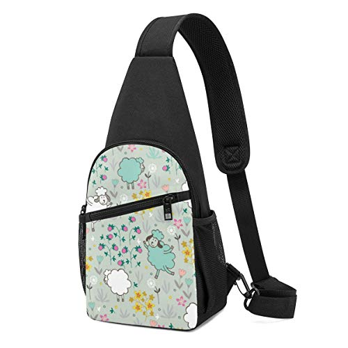 DEKIFNHG Sheep Sling Backpack Hiking Daypack Crossbody Shoulder Bag