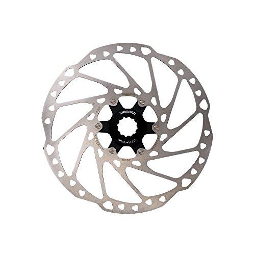 SHIMANO 180mm C.Lock Deore Discos Ciclismo Unisex Adulto, Multicolor(Plateado/Negro)