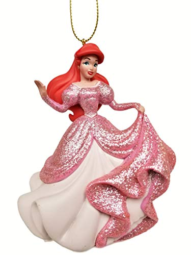 Ariel - in Pink Glitter Dress (Princess) Figurine Holiday Christmas Tree Ornament - Limited Availability – New for 2019
