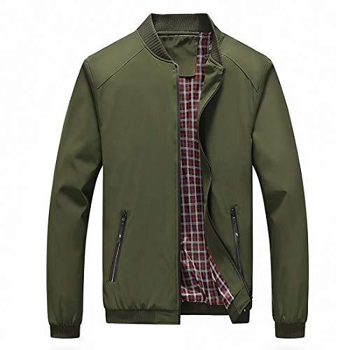 Nantersan Mens Bomber Jacket Casual Slim Fit Softshell Outdoor Windbreaker Lightweight Flight Jacket Coat
