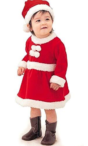 Disfraz de Papá Noel - vestido de niña - vestido - forro polar - suave y cálido - 70/80 cm máximo - idea de...