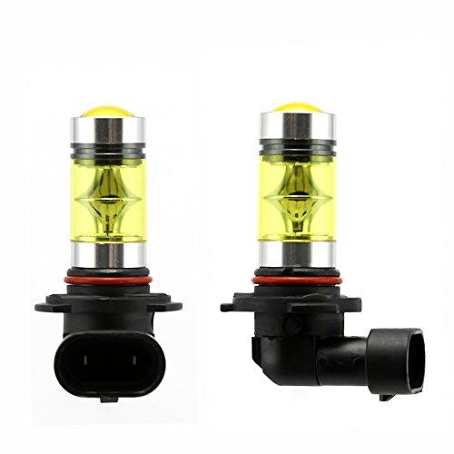 Lot de 2 ampoules LED, à haute puissance, pour phare anti-brouillard ou feu de circulation diurne (DRL) HB3 9005 100W Oro Giallo