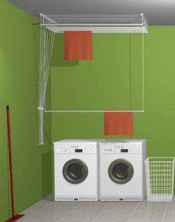 Wäscheständer, für Deckenmontage ETEND'besser ® 5, 49 cm x 140 cm, Kapazität 7 m