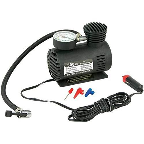 Ballylelly DC12V 300Psi Inflador de neumáticos de Coche Auto Mini compresor de Aire Bomba de neumáticos con medidor de presión para Coche Bicicleta Moto Bola