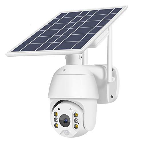 Cámara De Seguridad Solar WiFi 1080P HD Batería Recargable para...