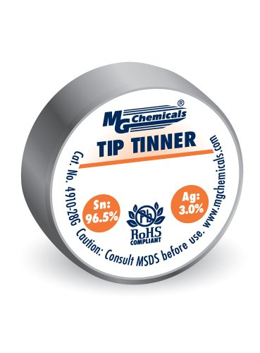 MG Chemicals SAC305 Unleaded Tip Tinner, (28g) 1 oz Container, No Clean Formulation, Silver (4910-28G)