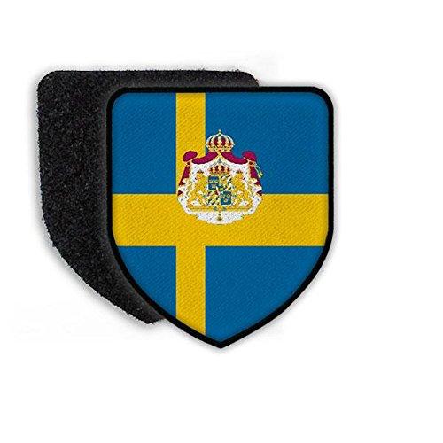 Copytec Patch Landeswappenpatch Schweden Stockholm König Carl Gustaf Löwe Fahne Flagge Aufnäher #21966