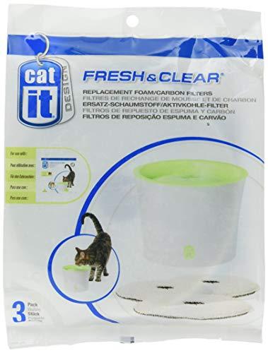 Catit 55601 Ersatz-Reinigungsfilter 3er Pack für 3 L Trinkbrunnen
