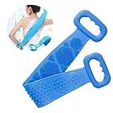 yolistar spazzola per il corpo del bagno in silicone, massaggio scrubber schiena bifacciale in silicone, scrubber esfoliante, scrubber posteriore, spazzola massaggio