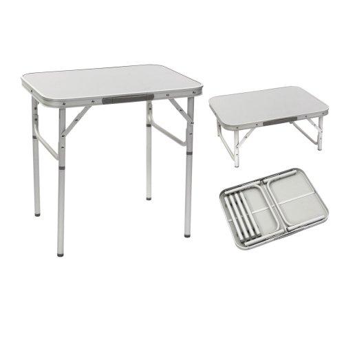Aluminium Laptoptisch Zusammenklappbar. Platzsparend. Mehrzwecktisch für Indoor und Outdoor zum Zelten mit Teleskopbeinen, Betttisch, Campingtisch Hochwertiger Klapptisch mit Griff Tischbeine klappbar