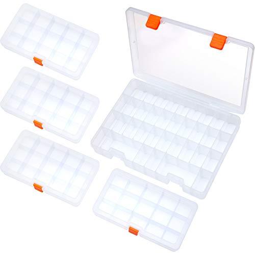 SOMELINE Plastik Aufbewahrungsbox Schmuckkasten für die Schmuck Perlen und andere Mini Waren Sortierkästen Transparente Aufbewahrungsbox 5 Stück in 2 Größen