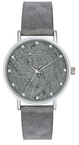 Tamaris Damen Analog Japanisches Quarzwerk Uhr mit Leder Armband TW034