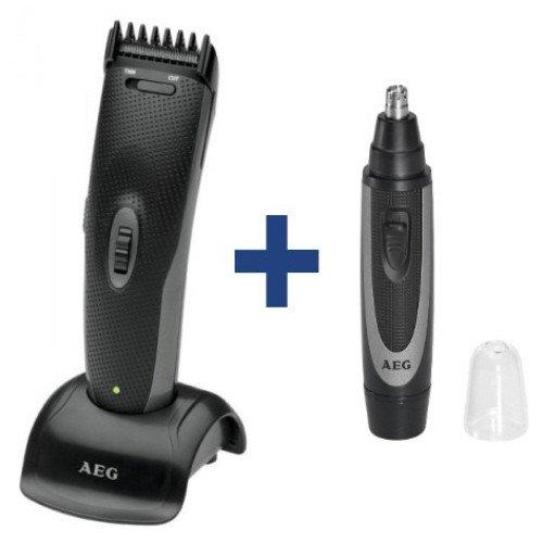 Preisvergleich Produktbild AEG Haarschneidemaschine HSM / R 5596 + Nasenhaarentferner NE5609