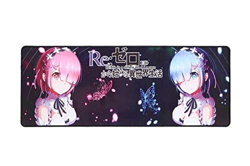 Grand Tapis de Souris de Jeu, thème REM & Ram de Re: Zero Kara Hajimeru Isekai Seikatsu