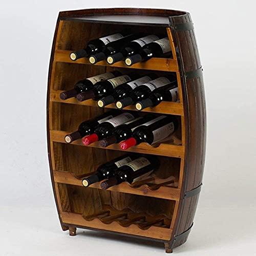 Bedspread Estante de Vino Estante de Vino para el hogar Estante de Vino Madera Maciza Creatividad Decoración Restaurante Bar Estante de Vino