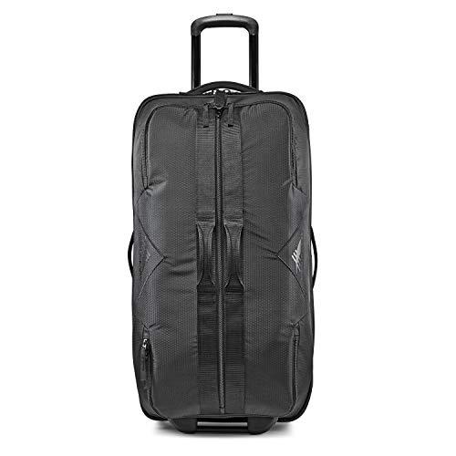 High Sierra Dells Canyon 34-Inch Wheeled Duffel Bag - Large Rolling Duffel Bag - Travel Duffel Bag with Wheels, Black