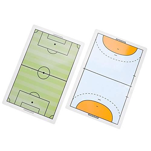 Gedourain Entrenadores de portapapeles de fútbol Tablero táctico Tablero de Entrenamiento de fútbol para Juegos de Baloncesto