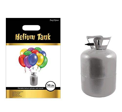 Das Kostümland Bombona de helio desechable XL para 50 globos, 0,43 m³