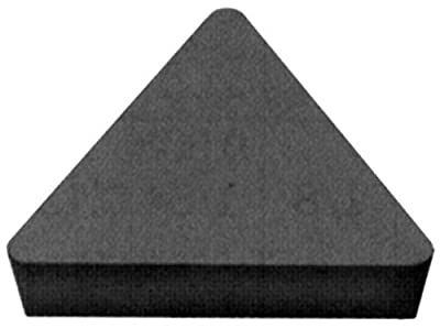 """Cobra Carbide 41256 Solid Carbide Turning Insert, C550 Grade, Uncoated (Bright) Finish, TPG Style, TPG 322, 1/8"""" Thick, 1/32"""" Radius (Pack of 10)"""