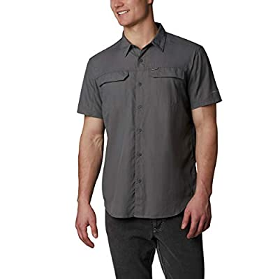 Columbia Men's Silver Ridge 2.0 Short Sleeve Shirt, Uv Sun Protection, City Grey, Large