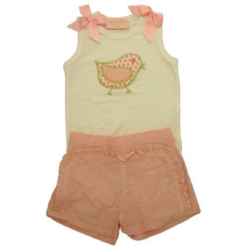 Mud Pie Baby Lil' Chick Cotton Tank and Seersucker Shorts Set, 12 18 Months...