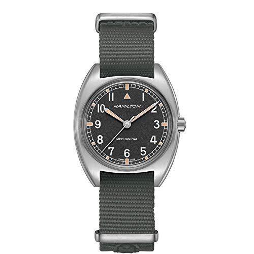Hamilton H76419931 Khaki Pilot Pioneer Mechanical Black Dial Black Strap Watch