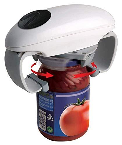 LLSS Ouvre-Bocal Automatique One Touch, Outil d'ouverture de boîte Facile réglable, ouvre-Bouteille de Pot Accessoires de Cuisine