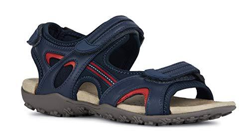 Geox Sandal STREL D9225B Damen Trekking Sandalen,Frauen Outdoor-Sandale,Sport-Sandale,Aussensteg,3-Fach Klett,DUNKELBLAU,36