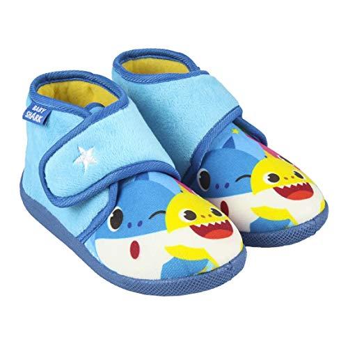 CERDÁ LIFE'S LITTLE MOMENTS 2300004561_T021-C56 Zapatillas de Casa Cerradas de Baby Shark - Licencia Oficial Nickelodeon, Azul, 21 para Niños