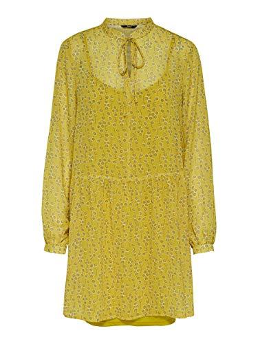 Only Onlsunny L/s Dress Wvn Vestido, Amarillo Empañado, 38 para Mujer