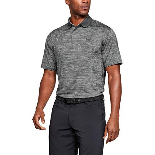 Under Armour Men's Performance 2.0 Golf Polo, Steel (035)/Black, Medium